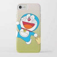 doraemon iPhone & iPod Cases featuring Doraemon Bring Tote Bags by Timeless-Id