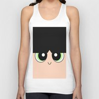 powerpuff girls Tank Tops featuring Buttercup -The Powerpuff Girls- by CartoonMeeting