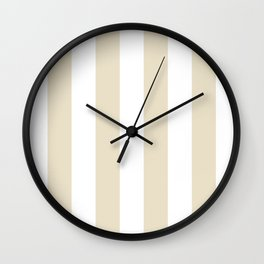 Vertical Stripes - White and Pearl Brown Wall Clock