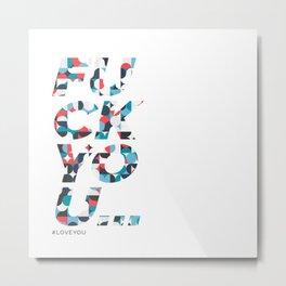FU Metal Print
