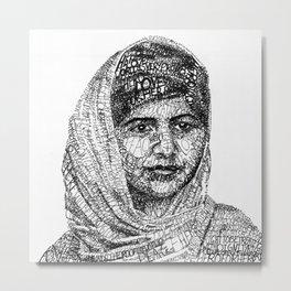 Malala Yousafzai Metal Print