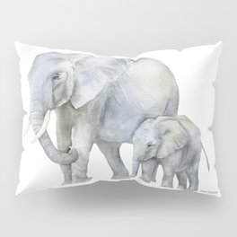 Mother and Baby Elephants Pillow Sham