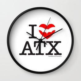 I Heart Austin Wall Clock