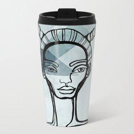 Outlined Metal Travel Mug
