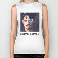 johnny depp Biker Tanks featuring Johnny Depp by Pazu Cheng