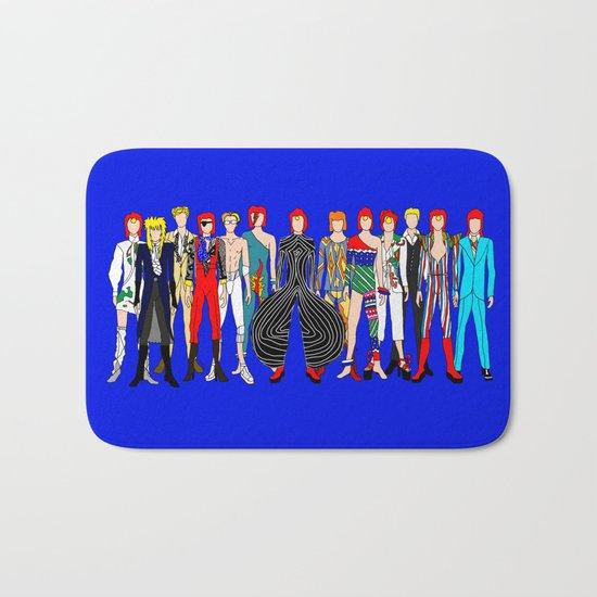 Blue Bowie Group Fashion Outfits Bath Mat