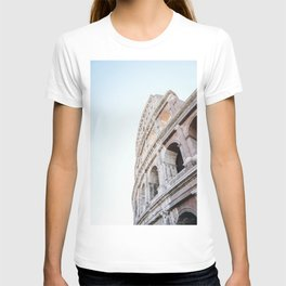 Photo of the Colosseum Roman Amphitheatre in golden hour at the Forum Romanum in Rome I, Italy | Fine Art Colorful Travel Photography |  T-shirt
