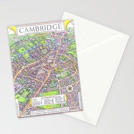 CAMBRIDGE University map ENGLAND Stationery Cards