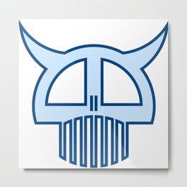 Big Blue Skull Metal Print