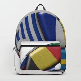 Russia 2018 - football ball with various flags Backpack