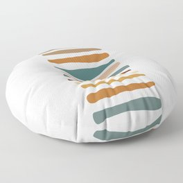 Colored Stripes Abstract Floor Pillow