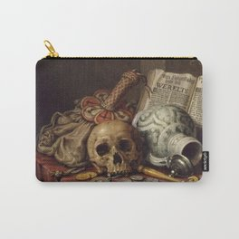 Evert Collier - A Vanitas Still Life Carry-All Pouch