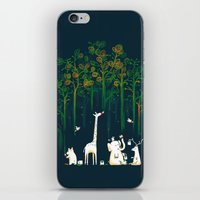 iPhone & iPod Skins featuring Re-paint the Forest by Picomodi