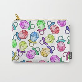 Retro 80's 90's Neon Colorful Ring Candy Pop Carry-All Pouch