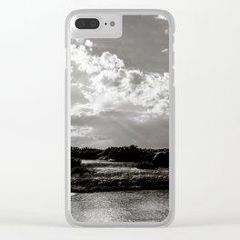 Torre Pozzelle beach and its bay at sunset in Ostuni Salento Italy Clear iPhone Case