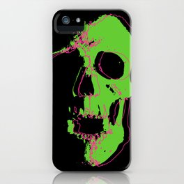 Skull - Lime iPhone Case