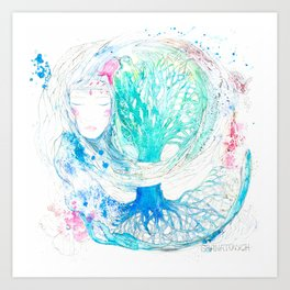 Tree of Life | Granatovych Artwork | Oils on Water and Watercolors Art Print