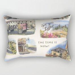Italy - Art Print Rectangular Pillow