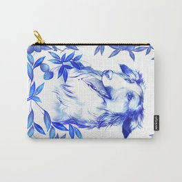 Blue Borzoi Carry-All Pouch
