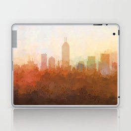 Indianapolis Skyline - In the Clouds Laptop & iPad Skin