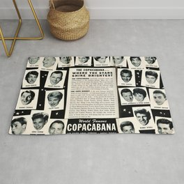 1950's Vintage NYC Copacabana Nightclub Advertisement Revue Poster Rug