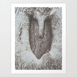 tree heart Art Print