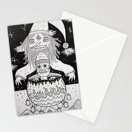 Jumped out the sorcerers cauldron. Stationery Cards