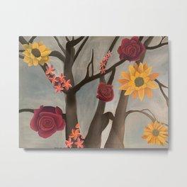 Tree of Flowers Metal Print