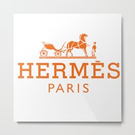 Horse Paris Metal Print