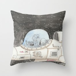 And so it begins again Throw Pillow