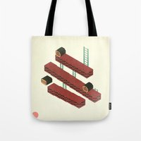 nintendo Tote Bags featuring Nintendo #3 by Dabwood2