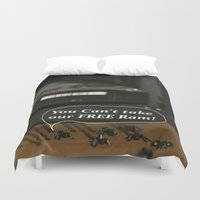 bugs Duvet Covers featuring ?!? Computer Bugs!?! by IowaShots