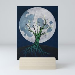Meditation on a Sap Moon Mini Art Print