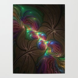 Colors, Abstract Fractal Art Poster