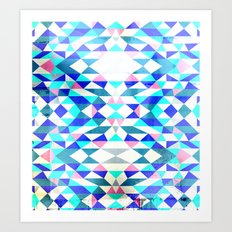 Arctic Swimming Art Print