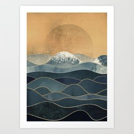 The Great Spring Waves Art Print