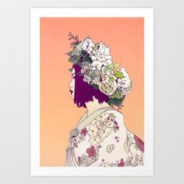 Geisha Under the Sun Art Print