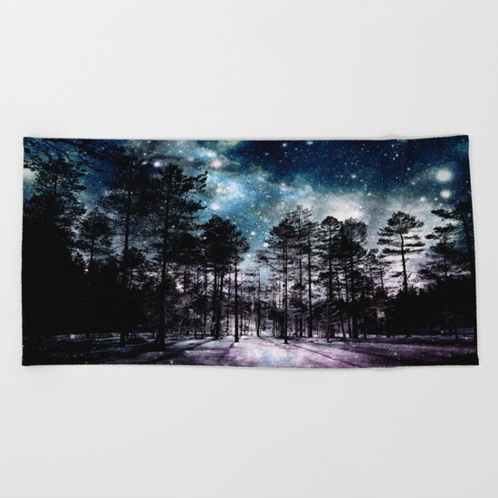 One Magical Night...(teal & lavender) Beach Towel
