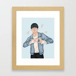 Monsta X - Wonho Framed Art Print