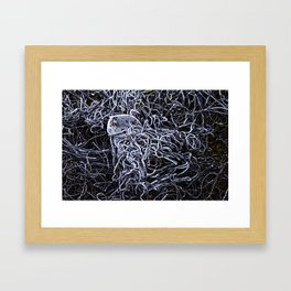 méduse métallique de glace Framed Art Print