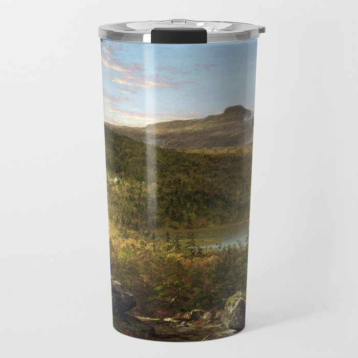 Thomas Cole A View of the Two Lakes and Mountain House, Catskill Mountains, Morning (1844) Travel Mug
