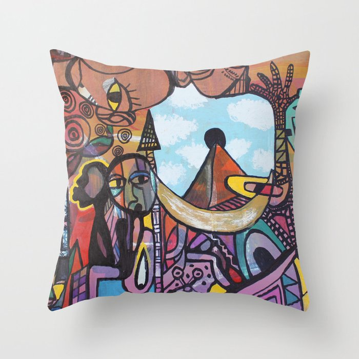 2012 Love The Way You Look Black Throw Pillow