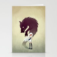 audrey Stationery Cards featuring Werewolf by Freeminds