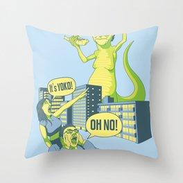 Yoko Oh No! Throw Pillow