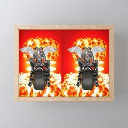 Biker of the Apocalypse-Conquest Framed Mini Art Print