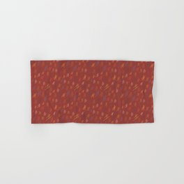 Abstract Orchard HashTag Compost-Red Hand & Bath Towel