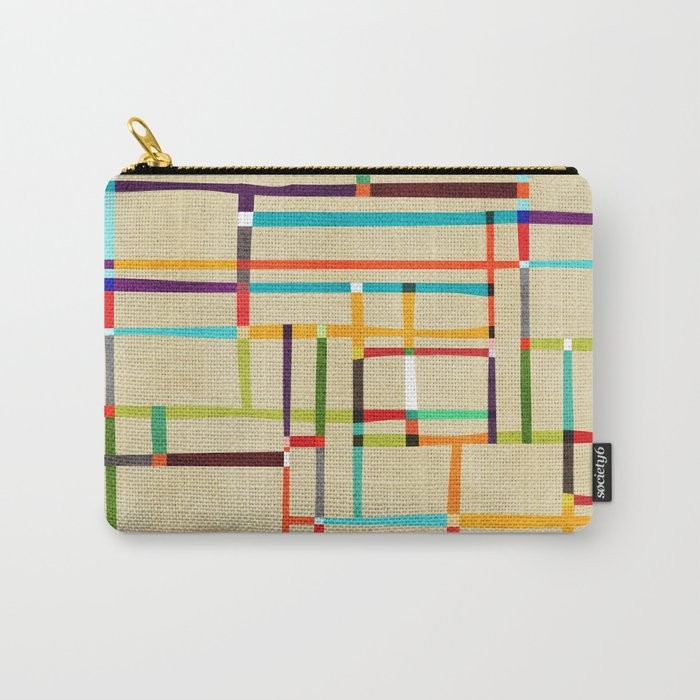 The map (after Mondrian) Carry-All Pouch