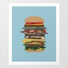 Burger Stack Art Print
