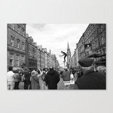 Edinburgh stuntman Canvas Print