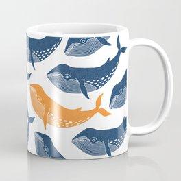 Whale Dance - Blue & Orange Coffee Mug